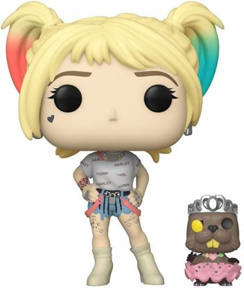 Picture of Birds of Prey POP! & Buddy Vinyl Figura Harley Quinn & Beaver 9 cm.