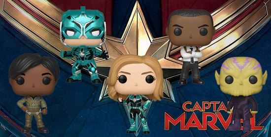 Picture of PACK 5 FIGURAS CAPTAIN MARVEL.