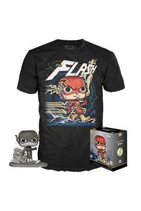Picture of DC Jim Lee POP! & Tee Set de Minifigura y Camiseta Flash heo Exclusive