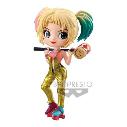 Picture of Birds of Prey Minifigura Q Posket Harley Quinn Version A 14 cm