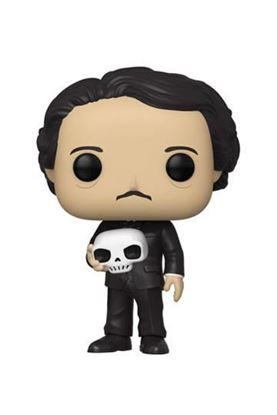 Picture of Edgar Allan Poe POP! Icons Vinyl Figura Edgar Allan Poe w/ Skull 9 cm
