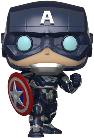 Picture of Marvel's Avengers (2020 video game) POP! Marvel Vinyl Figura Capitán América Stark Tech 9 cm.