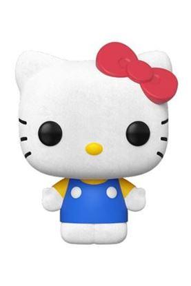 Picture of Hello Kitty Figura POP! Sanrio Vinyl Hello Kitty Classic (Flocked) 9 cm