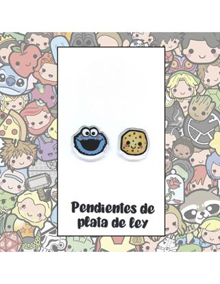 Picture of PENDIENTES MONSTRUO GALLETAS RESINA/PLATA
