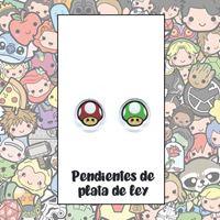 Picture of PENDIENTES SETAS RESINA/PLATA DE LEY