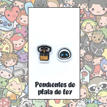 Picture of PENDIENTES WALLE Y EVA RESINA/PLATA