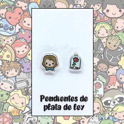 Picture of PENDIENTES BELLA Y ROSA RESINA/PLATA