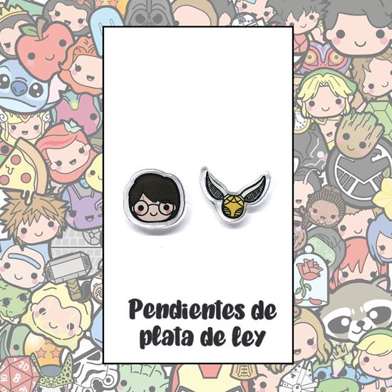 Picture of PENDIENTES HARRY Y SNITCH (RESINA Y PLATA)