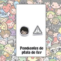 Picture of PENDIENTES HARRY Y RELIQUIAS (RESINA Y PLATA)