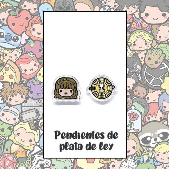 Picture of PENDIENTES HERMIONE Y GIRATIEMPO (RESINA Y PLATA)
