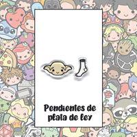 Picture of PENDIENTES DOBBY Y CALCETÍN (RESINA Y PLATA)