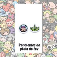 Picture of PENDIENTES BUZZ Y ALIEN (RESINA Y PLATA)