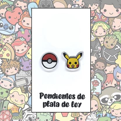 Picture of PENDIENTES POKEMON (RESINA Y PLATA)