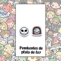 Picture of PENDIENTES JACK Y SALLY (RESINA Y PLATA)