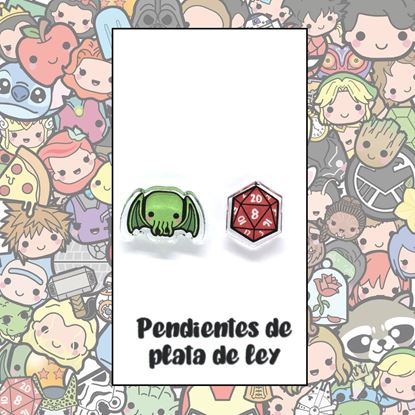Picture of PENDIENTES CHTHULHU (RESINA Y PLATA)