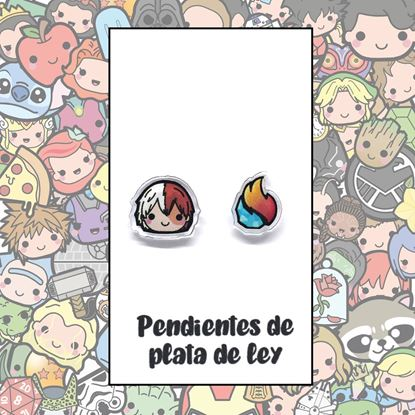Picture of PENDIENTES MY HERO (RESINA Y PLATA)