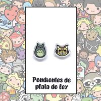 Picture of PENDIENTES TOTORO (RESINA Y PLATA)