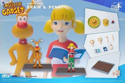 Picture of Inspector Gadget Pack de 2 Figuras 1/12 Brain & Penny 11 cm