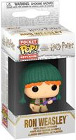 Picture of Harry Potter Llaveros Pocket POP! Vinyl Holiday Ron 4 cm