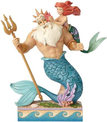 Picture of Figura Tritón y Ariel - Disney Traditions - Jim Shore