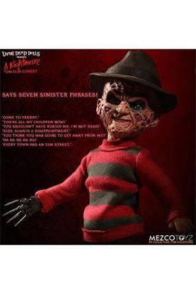 Picture of Pesadilla en Elm Street Muñeca con sonido Freddy Krueger 25 cm