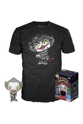 Picture of Stephen King's It POP! & Tee Set de Minifigura y Camiseta Pennywise  Exclusive TALLA L