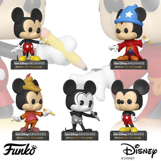 Picture of Pack 5 figuras POP! Mickey Mouse Disney Archives 9 cm