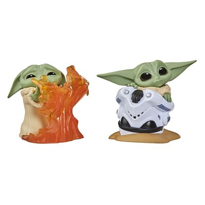 Picture of PACK THE CHILD BABY YODA FUEGO+CASCO SET 2 FIGURAS 5,5CM STAR WARS THE BOUNTY COLLECTION