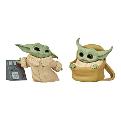 Picture of PACK THE CHILD BABY YODA BOTONES+BOLSA SET 2 FIGURAS 5,5CM STAR WARS THE BOUNTY COLLECTION