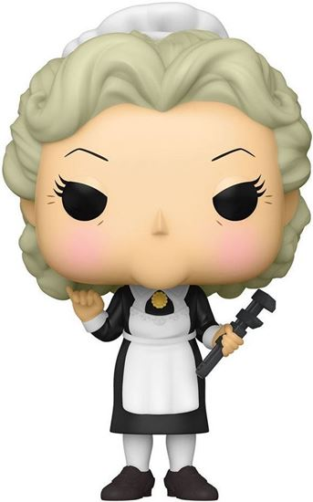Picture of El juego de la sospecha (Cluedo) POP! Movies Vinyl Figura Mrs. White w/Wrench 9 cm. DISPONIBLE APROX: MARZO 2021