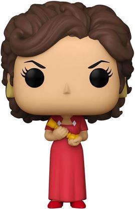 Picture of El juego de la sospecha (Cluedo) POP! Movies Vinyl Figura Miss Scarlet w/Candlestick 9 cm. DISPONIBLE APROX: MARZO 2021