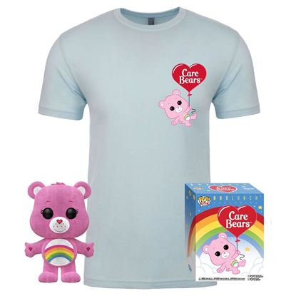 Picture of Care Bears POP! & Tee Set de Minifigura y Camiseta Cheer Bear heo Exclusive  TALLA M