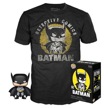 Picture of DC Comics POP! & Tee Set de Minifigura y Camiseta Batman Sun Faded heo Exclusive
