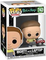 Picture of Rick & Morty POP! Animation Vinyl Figura Morty with Laptop 9 cm. DISPONIBLE APROX: FEBRERO 2021