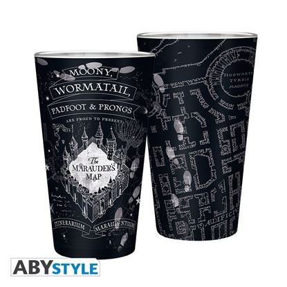 Picture of HARRY POTTER - Large Glass - 400ml - Marauder's map - Matte