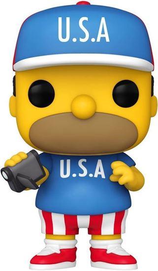 Picture of Los Simpson Figura POP! Animation Vinyl USA Homer 9 cm