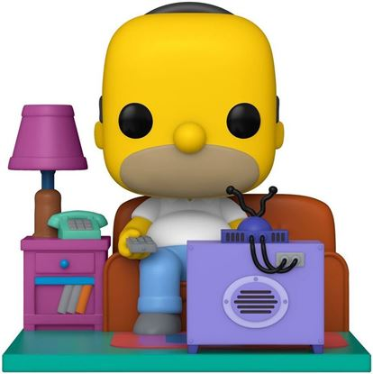 Picture of Los Simpson POP! Deluxe Vinyl Figura Homer Watching TV 18 cm