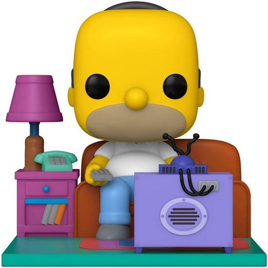 Picture of Los Simpson POP! Deluxe Vinyl Figura Homer Watching TV 18 cm