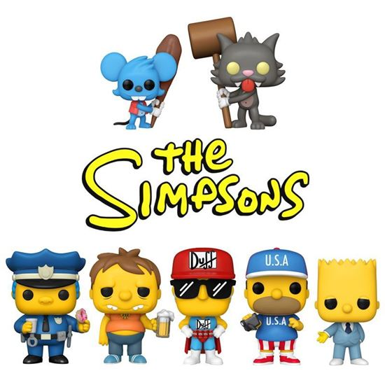 Picture of Pack 7 Figuras POP! Los Simpson 9 cm. DISPONIBLE APROX: ABRIL 2021