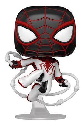 Picture of Marvel's Spider-Man POP! Games Vinyl Figura Miles Morales Track Suit 9 cm