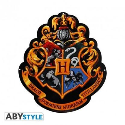 """Picture of HARRY POTTER - Letrero metálico """"Hogwarts"""" (28x32) Broch."""