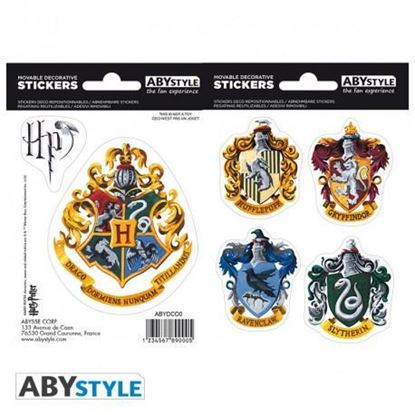 Picture of HARRY POTTER - Pegatinas - 16x11cm / 2 hojas - Hogwarts Houses X5