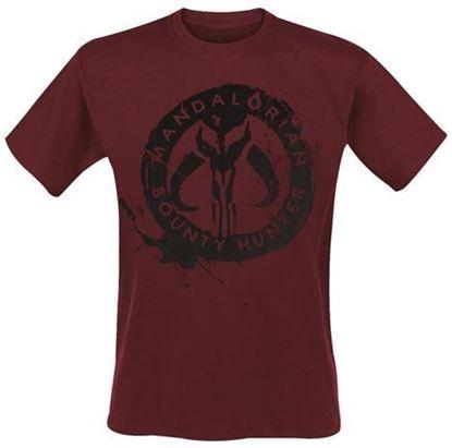 Picture of Camiseta Adulto Mandaloriano Burdeos Talla L - Star Wars