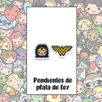 Picture of PENDIENTES WONDER WOMAN (RESINA Y PLATA)