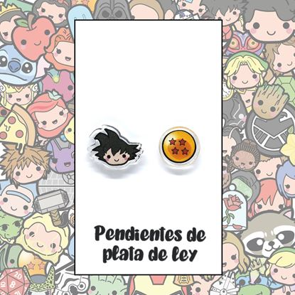 Picture of PENDIENTES DRAGON BALL (RESINA Y PLATA)