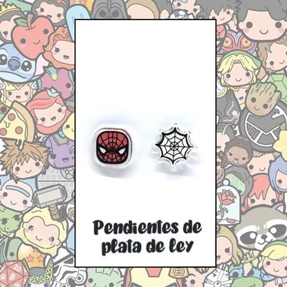 Picture of PENDIENTES SPIDERMAN (RESINA Y PLATA)