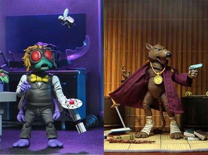Picture of Tortugas Ninja Pack de 2 Figuras Splinter & Baxter 18 cm