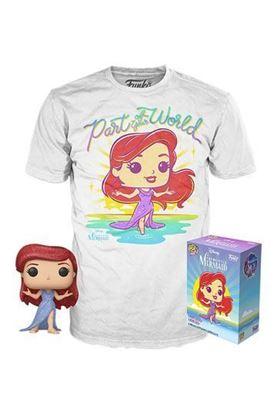 Picture of La Sirenita POP! & Tee Set de Minifigura y Camiseta Ariel (TALLA S AMERICANA) heo Exclusive