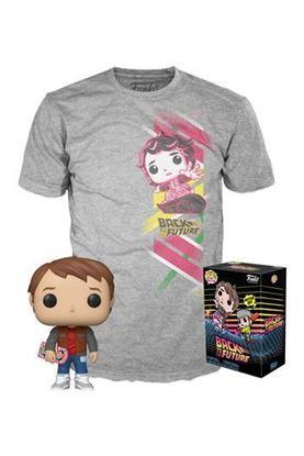 Picture of Regreso al Futuro POP! & Tee Set de Minifigura y Camiseta Marty heo Exclusive (TALLA M AMERICANA)