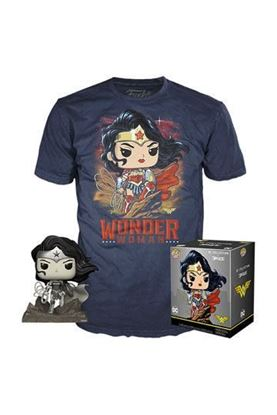 Picture of DC Jim Lee POP! & Tee Set de Minifigura y Camiseta (TALLA S)  Wonder Woman heo Exclusive